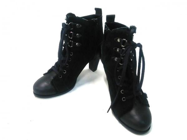 BABYLONE(バビロン) ショートブーツ M レディース 黒 ヌバック