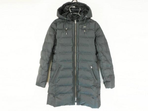 Lacoste(ラコステ) ダウンコート サイズ36 S レディース 黒 フード取り外し可/冬物