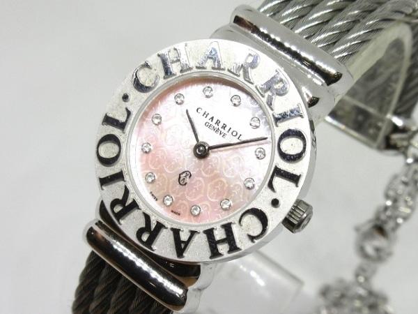CHARRIOL(シャリオール) 腕時計美品  サントロペ 028S レディース シェルピンク