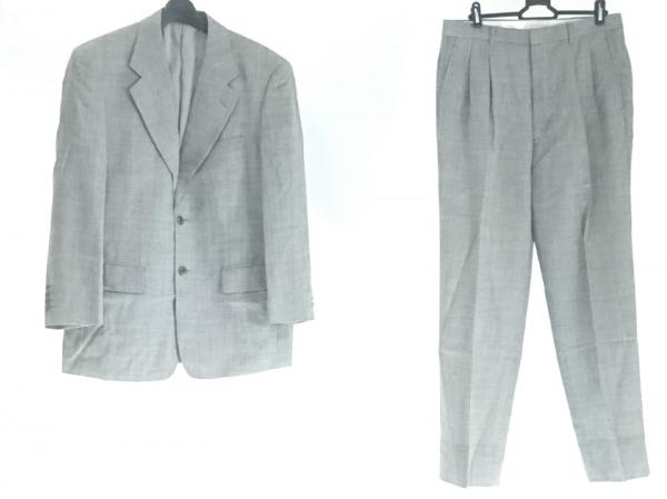 五大陸/gotairiku(ゴタイリク) シングルスーツ サイズ5M メンズ グレー ネーム刺繍