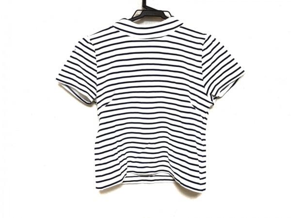 リランドチュール 半袖カットソー サイズ2 M レディース美品  白×ネイビー