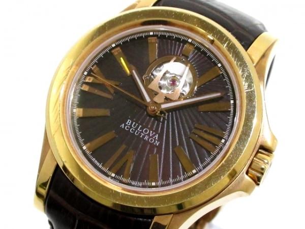 ブローバ 腕時計 アキュトロンカークウッド C460848 レディース 革ベルト/裏スケ