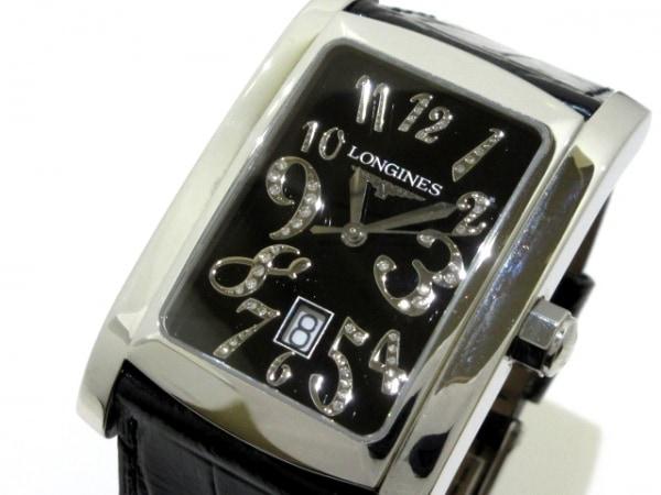 ロンジン 腕時計 ドルチェヴィータ L5.686.4 メンズ SS/革ベルト/ダイヤインデックス