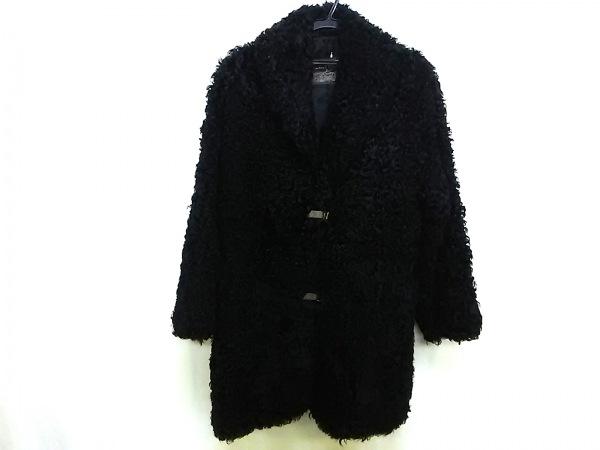 エンバ コート レディース 黒 冬物 ※品質表示タグがないため正確ではありません。