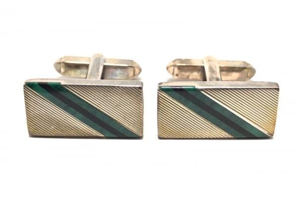 MAPPIN&WEBB(マッピン&ウェッブ) カフス 金属素材 ゴールド×グリーン×黒