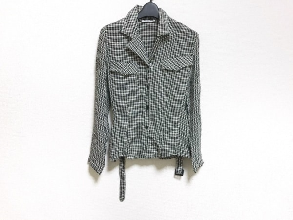 NARACAMICIE(ナラカミーチェ) ジャケット レディース 黒×アイボリー チェック柄/薄手