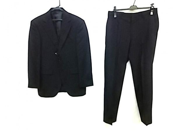 ゴタイリク シングルスーツ サイズ34(A4) メンズ 黒×ダークブラウン×マルチ