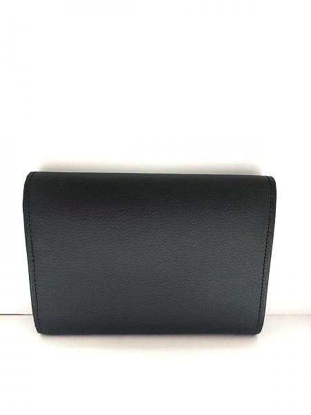 CampoMarzio(カンポマルツィオ) 3つ折り財布 黒×グリーン レザー