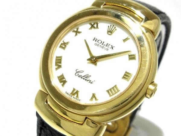 ROLEX(ロレックス) 腕時計 チェリーニ 6621 レディース K18YG/革ベルト アイボリー