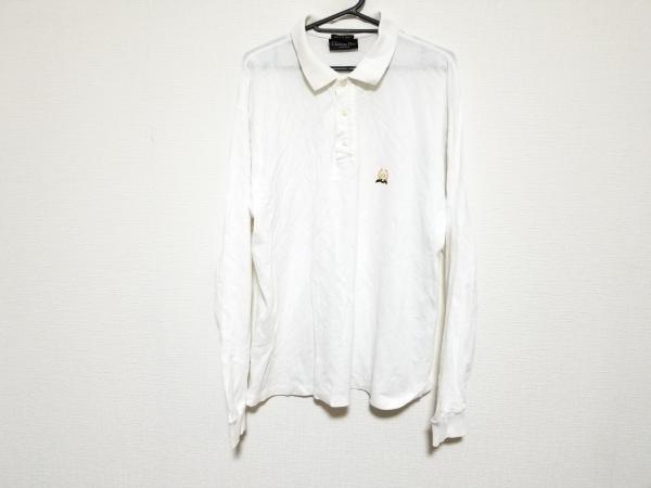 クリスチャンディオールムッシュ 長袖ポロシャツ サイズ52 メンズ美品  白