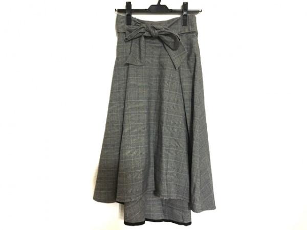 ef-de(エフデ) スカート サイズ7 S レディース美品  黒×ライトグレー チェック柄