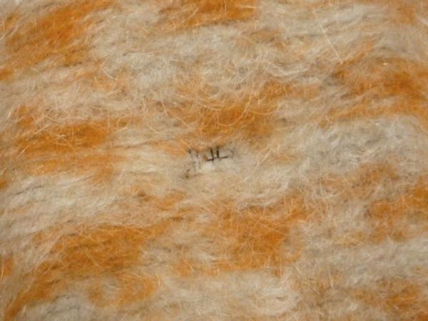 シンプルライフ コート サイズ13 L レディース オレンジ×ライトグレー 冬物