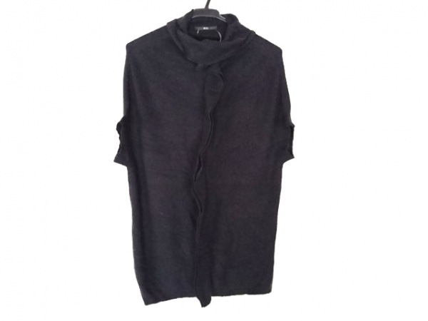 ヒューゴボス 半袖セーター サイズM  M レディース ダークネイビー タートルネック