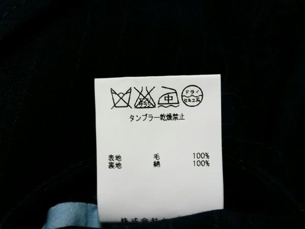 エムズブラック ジャケット サイズ36 S メンズ ダークネイビー×グレー ストライプ