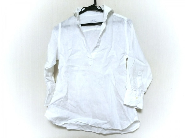 ORIAN(オリアン) 長袖ポロシャツ サイズ38 M レディース 白