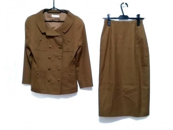 MELROSE(メルローズ) スカートスーツ レディース ダークブラウン 肩パッド