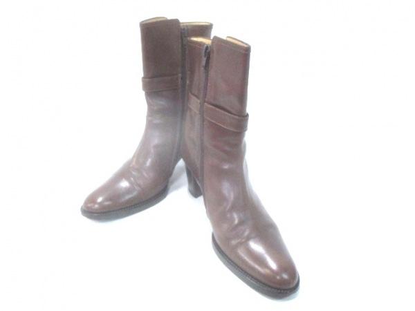 LUCA GROSSI(ルカグロッシ) ブーツ 37 レディース ブラウン レザー