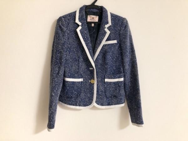 ジューシークチュール ジャケット サイズ0 XS レディース ブルー×ネイビー×白
