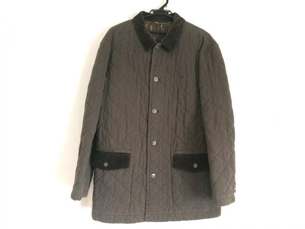 Papas(パパス) コート サイズLL メンズ ダークブラウン 冬物/キルティング