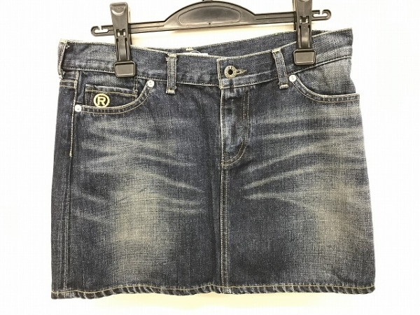 ア ベイシング エイプ ミニスカート サイズxs XS レディース美品  ネイビー デニム