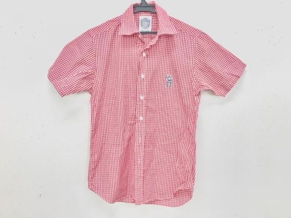 ビリオネアボーイズクラブ 半袖シャツ サイズxs XS メンズ美品  白×レッド