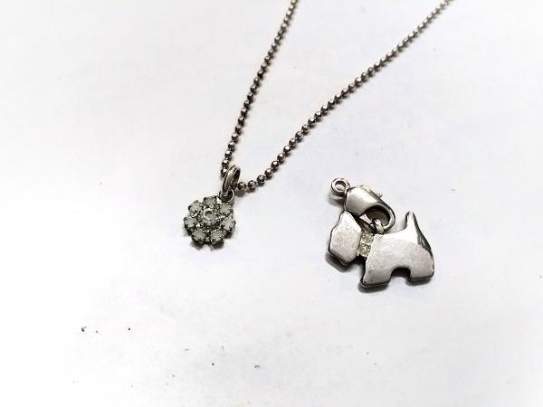 AGATHA(アガタ) ネックレス美品  シルバー×ラインストーン クリア 犬