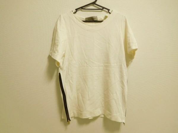 ザシークレットクローゼット 半袖カットソー レディース 白×黒 ジップアップ