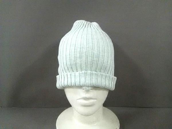 tumugu(ツムグ) ニット帽美品  ライトグレー コットン