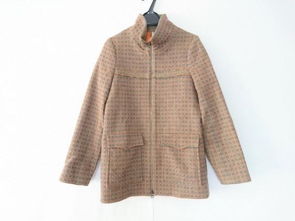ホッティー コート サイズ1 S レディース オレンジ×マルチ ジップアップ/春・秋物