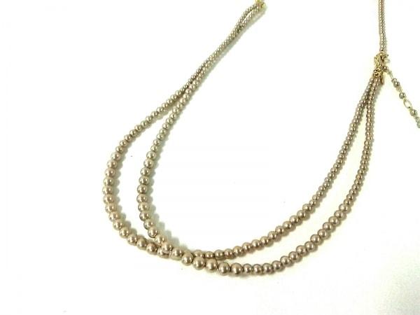 PlusVendome(プラスヴァンドーム) ネックレス美品  フェイクパール×金属素材 3連