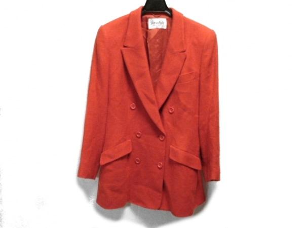 JUN ASHIDA(ジュンアシダ) コート サイズ9 M レディース レッド 冬物/肩パッド