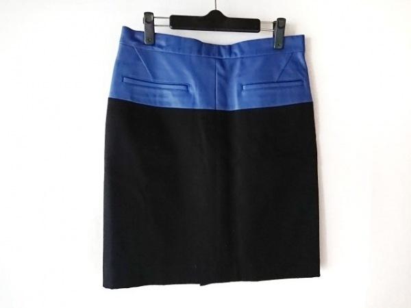 SCYE(サイ) スカート サイズ40 M レディース美品  黒×ブルー