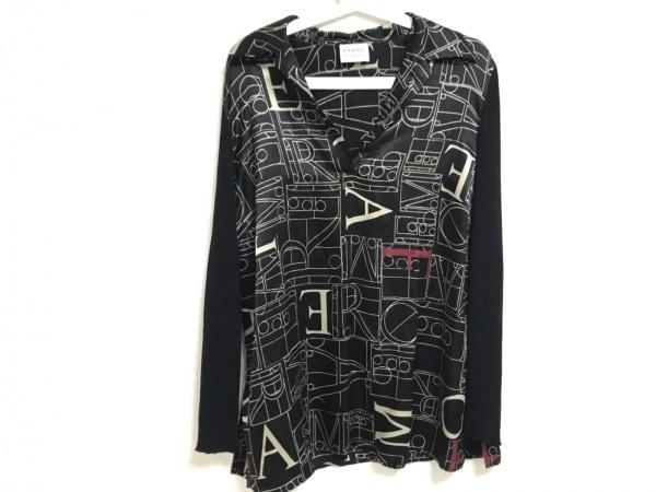 ジャンフランコフェレ 長袖カットソー サイズ48 XL レディース美品  シルク/袖ニット