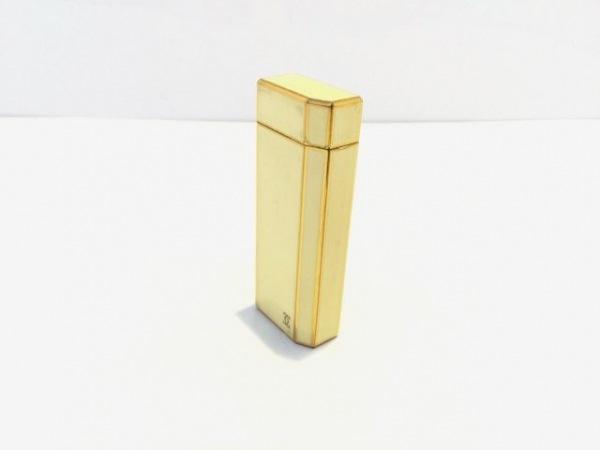 Cartier(カルティエ) ライター美品  アイボリー×ゴールド 金属素材