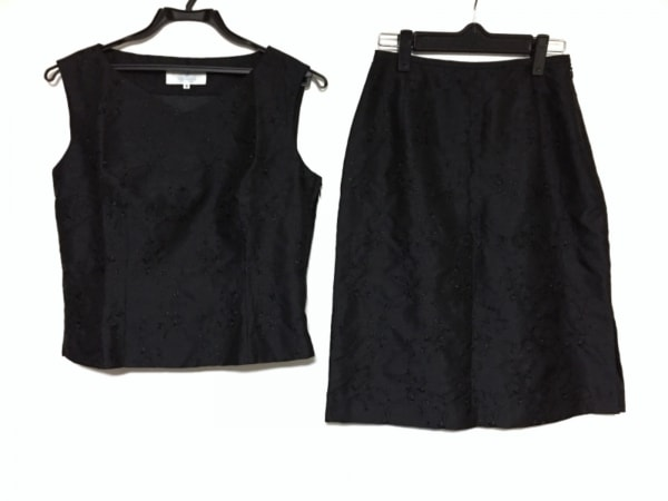 yumi katsura(ユミカツラ) スカートセットアップ サイズ9 M レディース美品  黒
