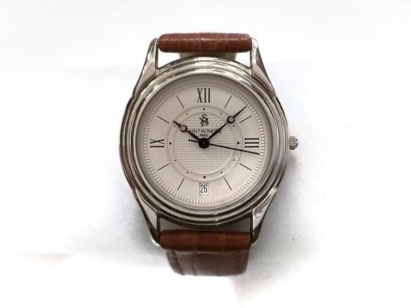 SAINT HONORE(サントノーレ) 腕時計美品  850013.2-K3 ボーイズ 革ベルト アイボリー