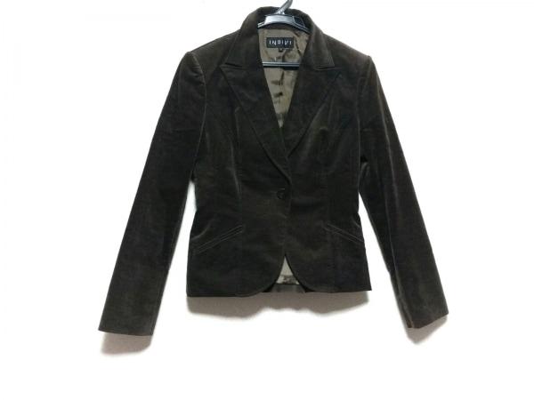 INDIVI(インディビ) ジャケット サイズ38 M レディース美品  ダークブラウン