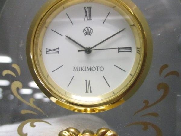 mikimoto(ミキモト) 小物新品同様  クリア×ゴールド パール/置時計 ガラス×金属素材