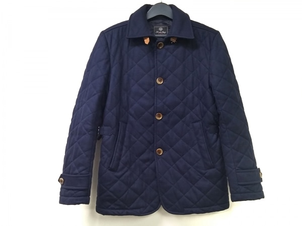 MEN'SBIGI(メンズビギ) コート サイズ02 M メンズ ネイビー 冬物/キルティング