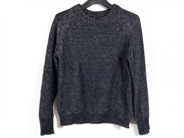 GREED(グリード) 長袖セーター サイズF レディース ネイビー×シルバー ラメ