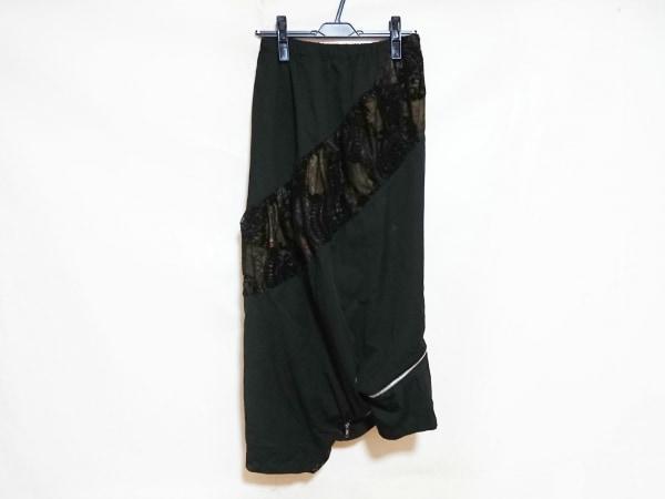 gouk(ゴウク) スカート レディース 黒×マルチ レース/ウエストゴム