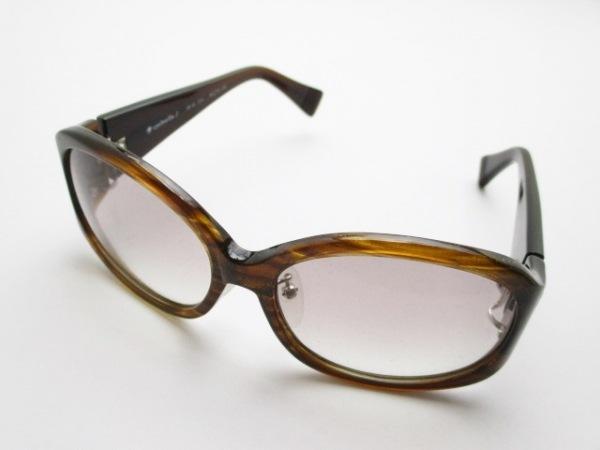 【中古】 アイブレラ eyebrella サングラス 美品 EB-02 ダークブラウン ブラウン ラメ プラスチック