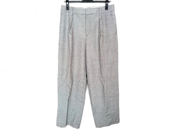 レキップ ヨシエイナバ パンツ サイズ40 M レディース 白×ダークグレー×黒 千鳥格子