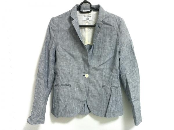 イネスドゥラフレサンジュ ジャケット サイズS レディース美品  白×ネイビー xUNIQLO