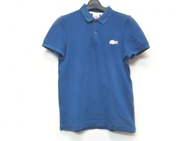 Lacoste(ラコステ) 半袖ポロシャツ サイズ2 M レディース ブルー L!VE