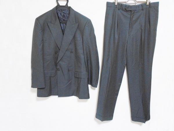 CERRUTI 1881(セルッティ1881) ダブルスーツ サイズ3DR メンズ 黒 ネーム刺繍