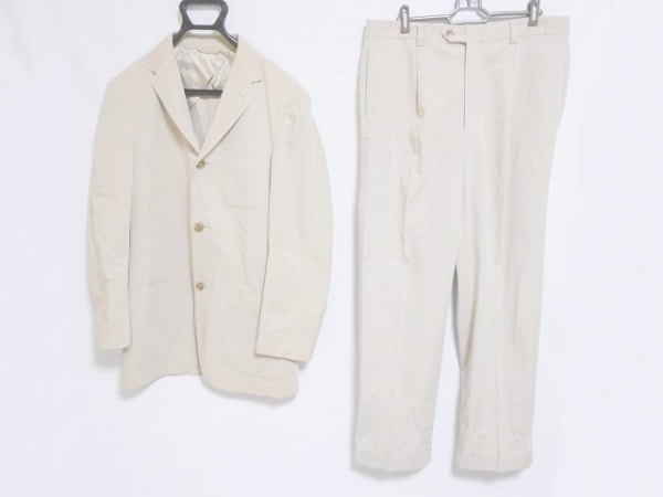 セルッティ1881 シングルスーツ サイズ上48下85 メンズ ベージュ ネーム刺繍