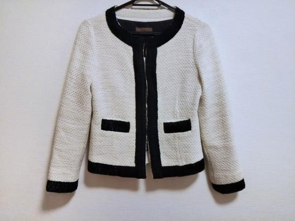 BALLSEY(ボールジー) ジャケット サイズ38 M レディース アイボリー×白×黒 ラメ