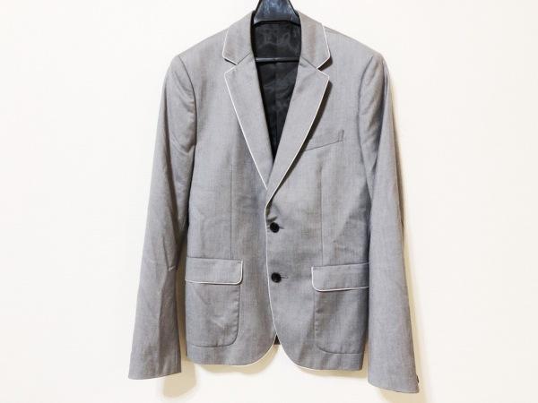 ティーケータケオキクチ ジャケット サイズ2 M メンズ グレー×白 肩パッド