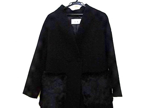 NICOLE(ニコル) コート サイズ38 M レディース 黒 ポケットファー/冬物
